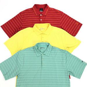 3 Nike Dri-Fit Short Sleeve Polo Shirts Mens Large